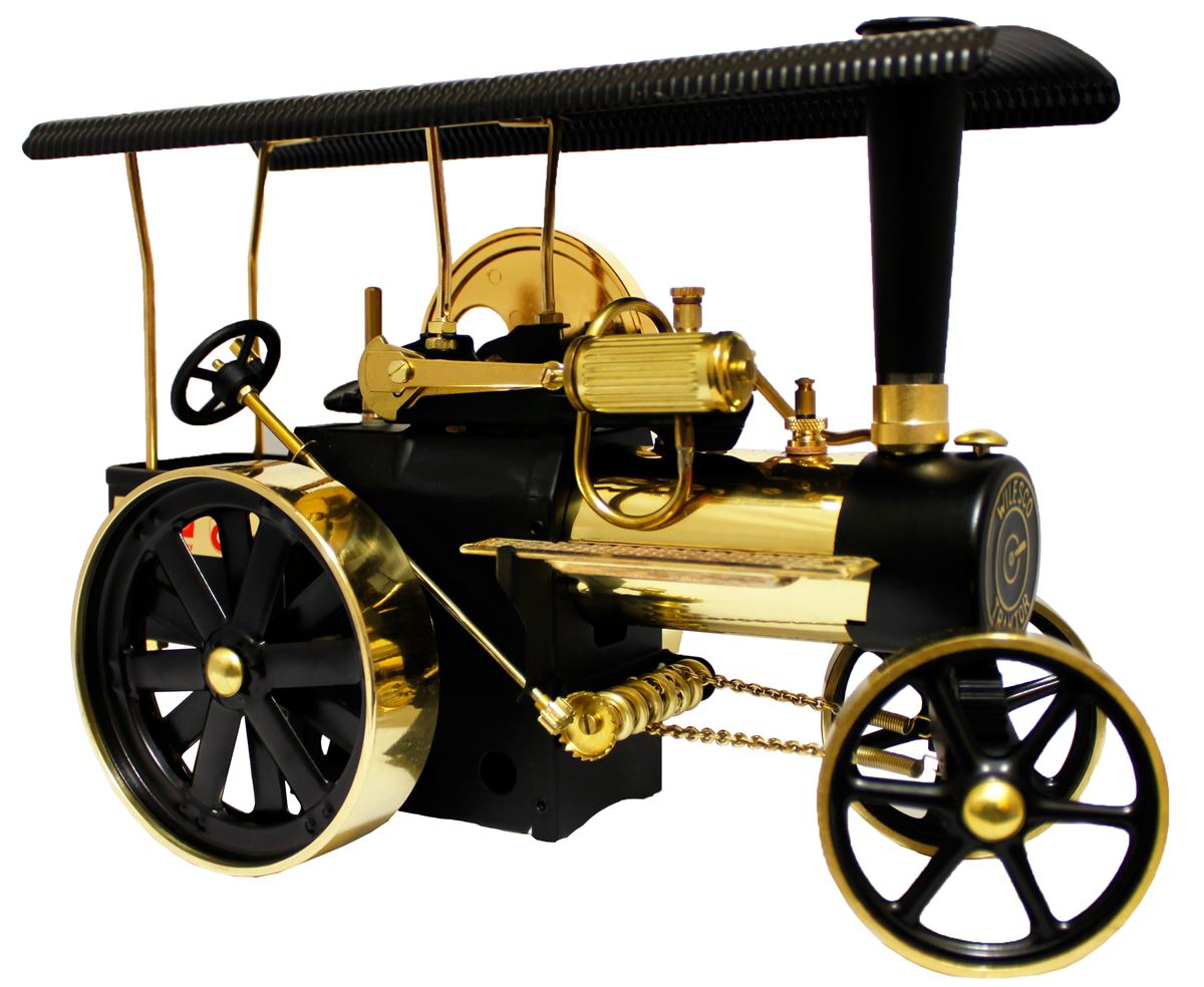 Working Brass Model Steam Traction Engine From