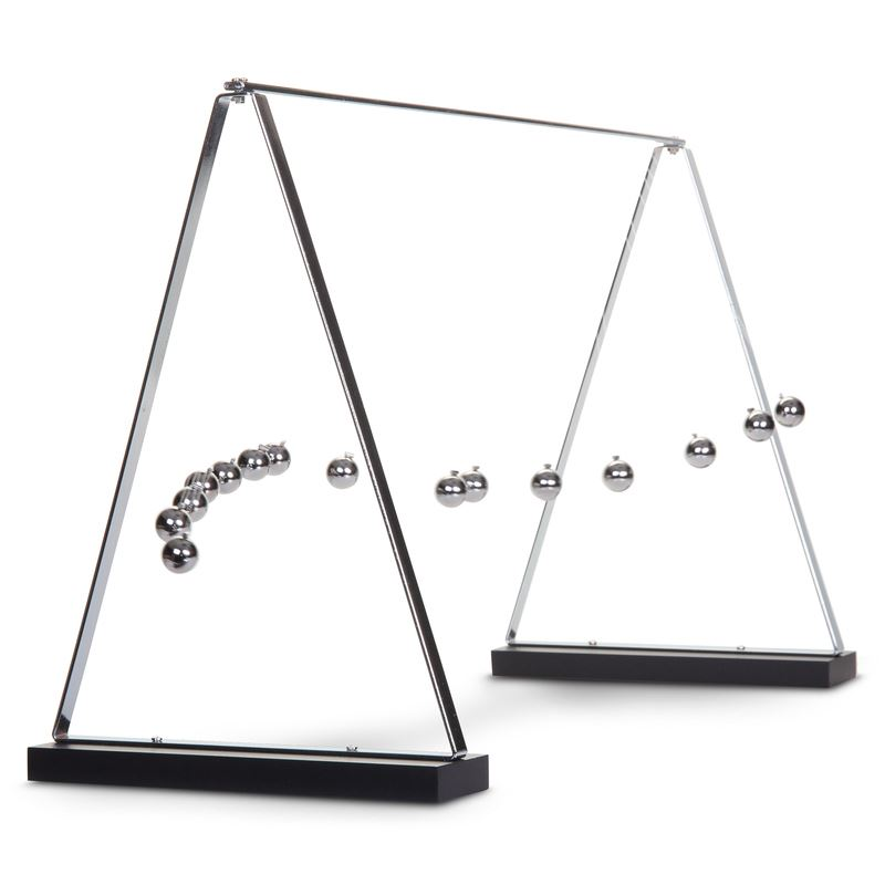 Physics Demonstration Desk Toy That Makes A Brilliant Alternative To The Universally Por Newton S Cradle Galileo Pendulum Consists Of 15 Metal