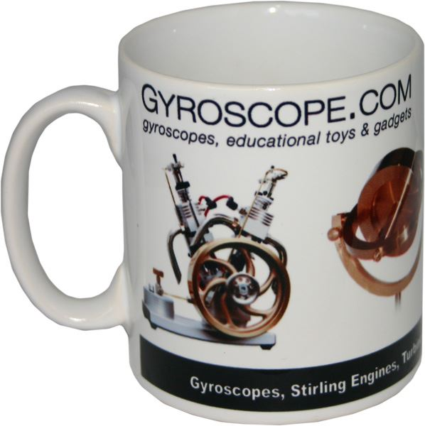 Other side of gyroscope.com mug
