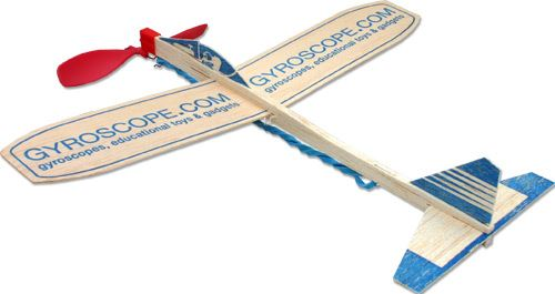 Balsa Rubber Band Plane From Gyroscope Com