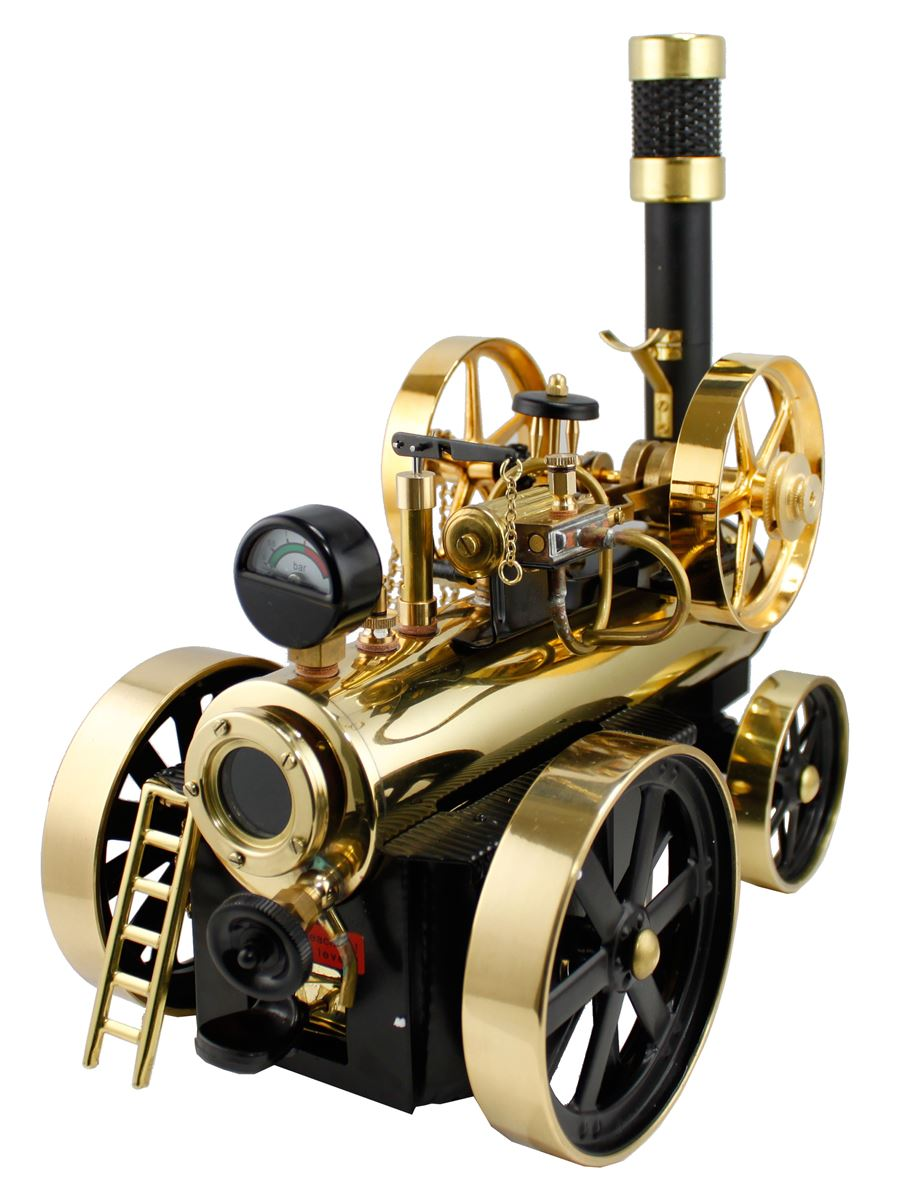 Working Brass Model Steam Engine Locomobile From