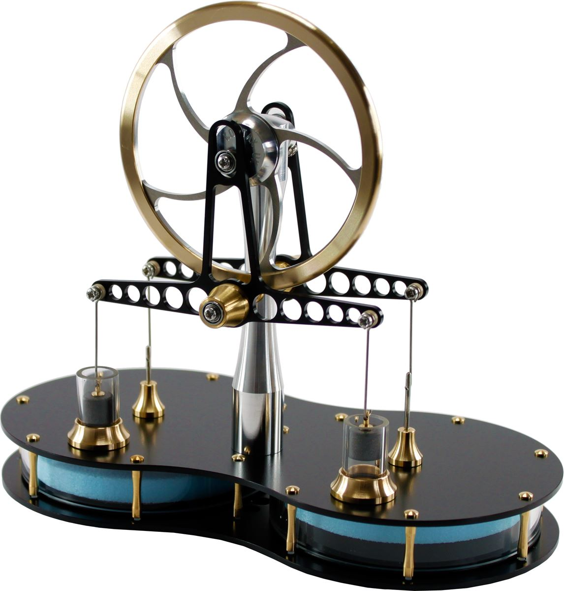 Twin cylinder Stirling engine